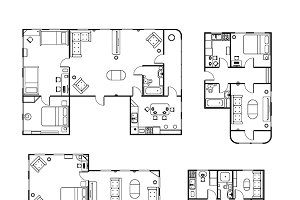 Black and white house plans