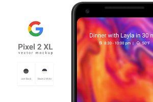 Google Pixel 2 XL Vector Mockup