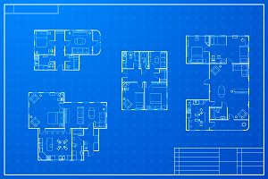 Different blueprint house plans