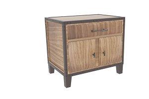 Glendora Solid Wood Storage Cabinet