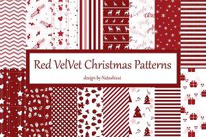 Red Velvet Christmas Patterns Bundle