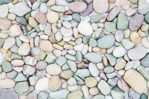 Sea pebbles texture