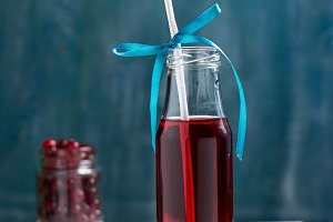 Fresh cranberry fruit drink