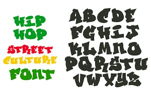 Hip Hop Graffiti font alphabet