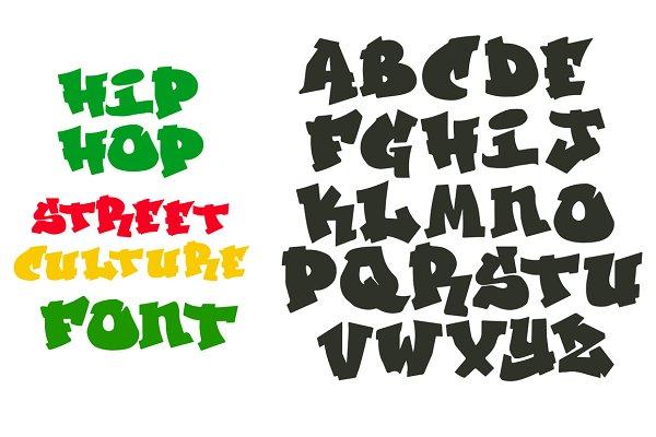 Hip Hop Graffiti font alphabet