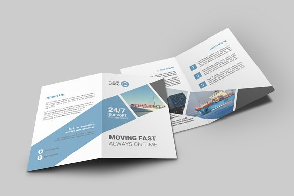 Logistic Bi-Fold Brochure