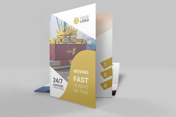 Logistic Service Bi-Fold Brochure