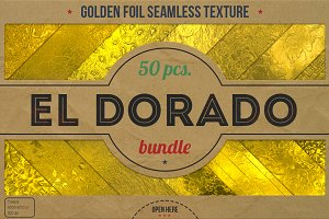 50 Golden Foil HD Textures XL Bundle