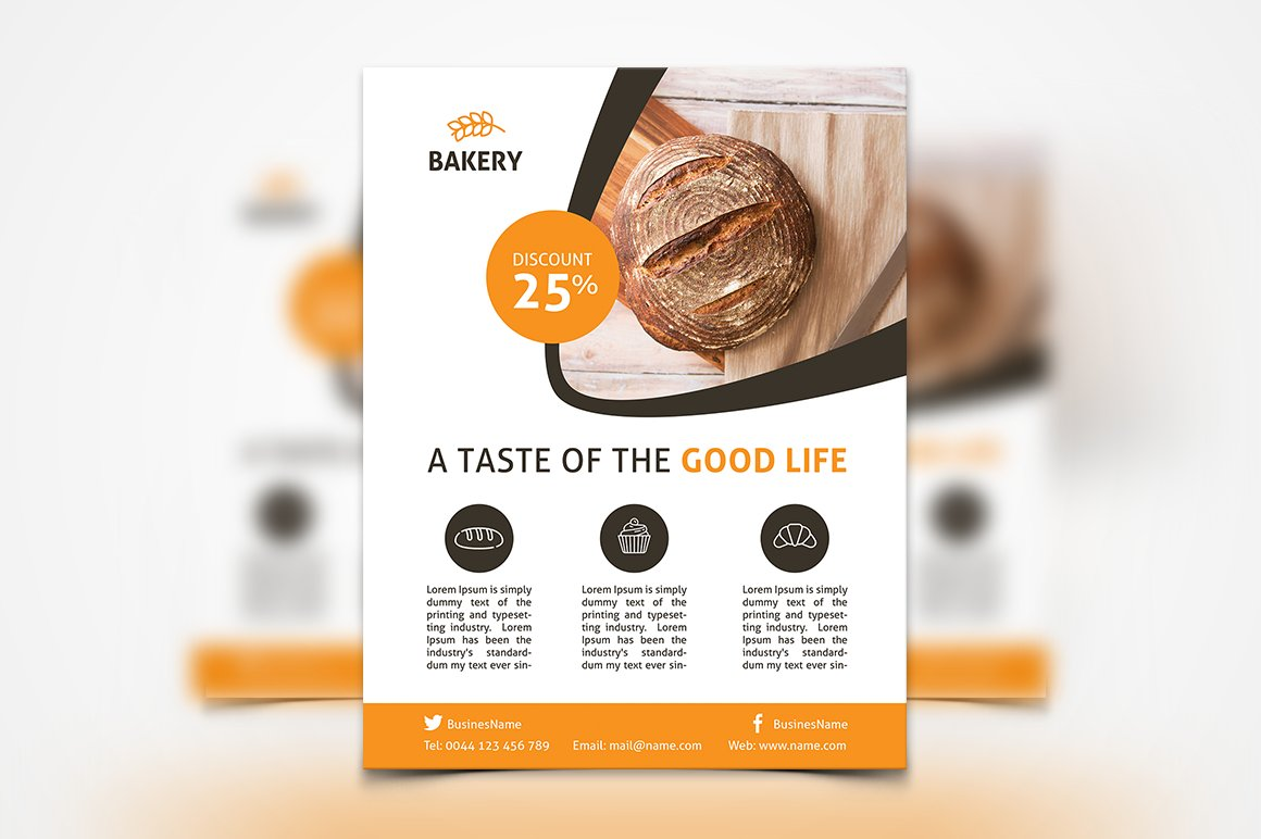 Bakery Flyer Flyer Templates Creative Market - Bakery brochure template