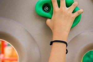 hands on the climbing simulator