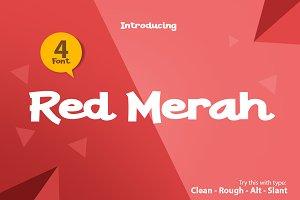 Red Merah 4 Font