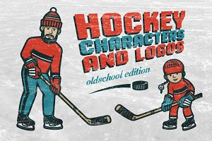 Hockey characters and logos