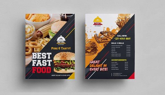 Both Side Food Flyer