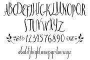 Set of vector alphabet and numbers
