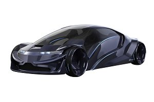 Car concept auto dark purple
