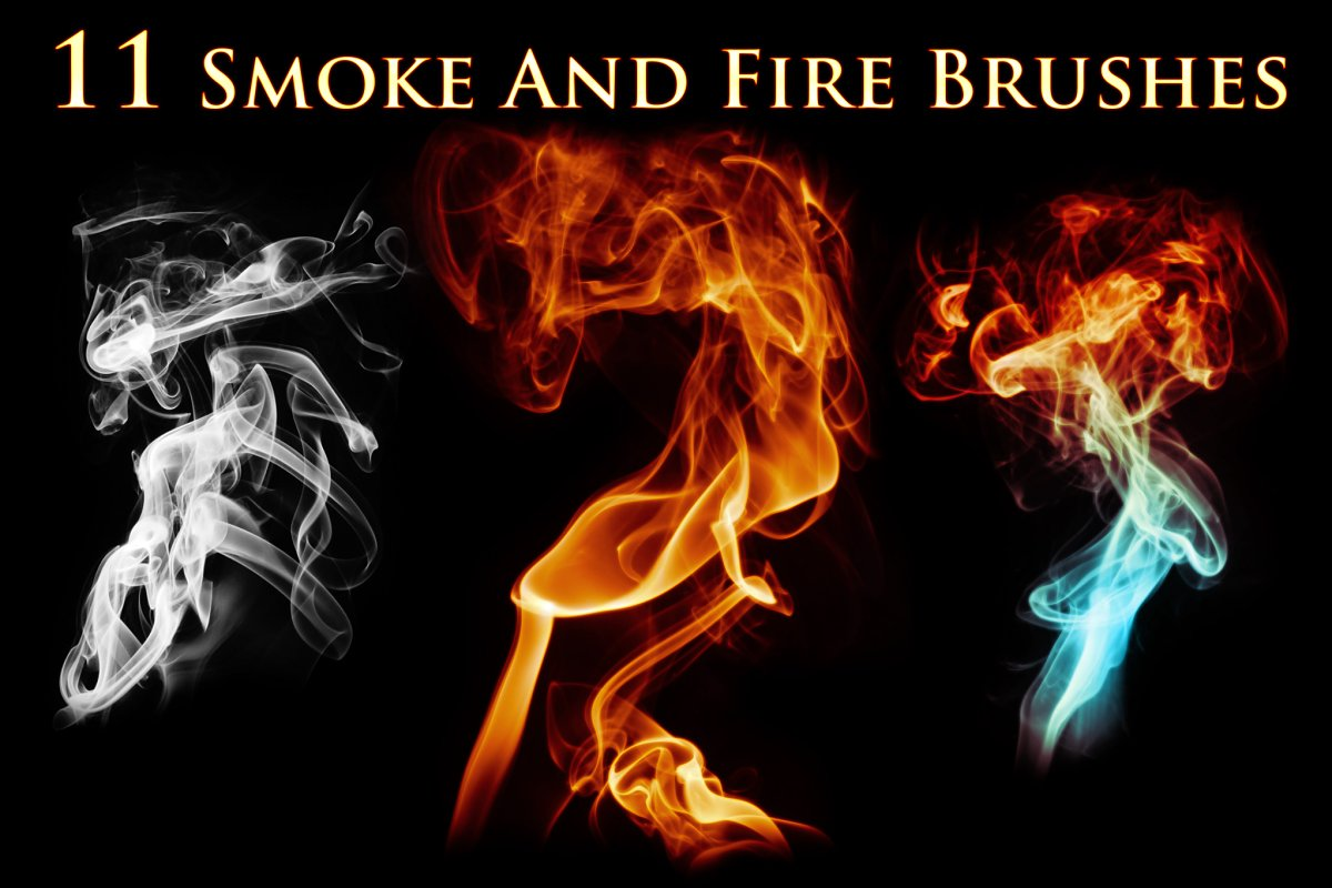 efeac3e3c93c 11 Smoke and Fire Brushes ~ Photoshop Add-Ons ~ Creative Market