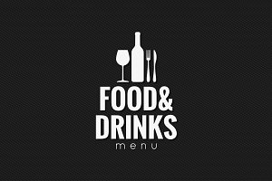 Restaurant menu logo design.