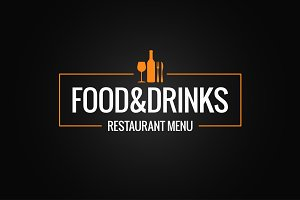 Food and drink menu logo