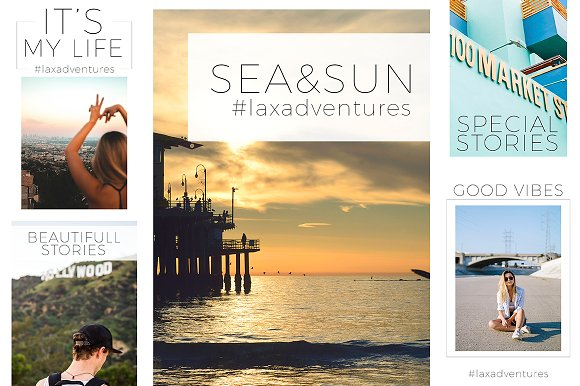 Travel & Fashion Instagram Stories in Social Media Templates - product preview 2