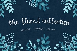 Floral Elements & Seamless Patterns