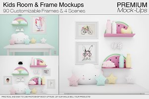 Kids Room & Frame Mockups