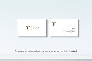minimal professional business card