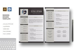 Hydra 2 Pages Resume Template
