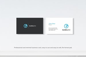 Global Minimal business card