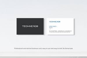 minimal tech business card