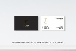 Modern Clean Law Business card