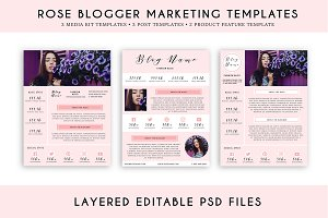Rose Blogger Marketing Template Pack