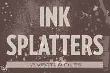 Ink Splatters vectors