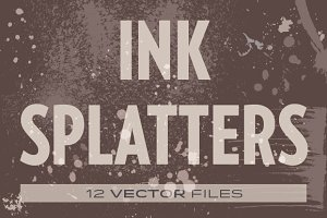 Ink Splatters vectors