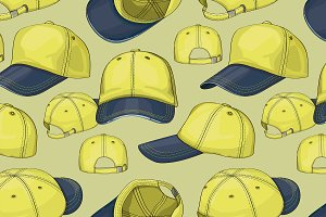 Baseball cap set pattern