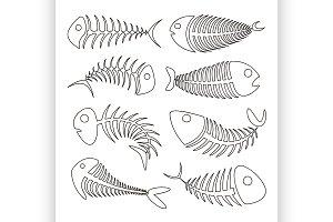 Fishbone set icons