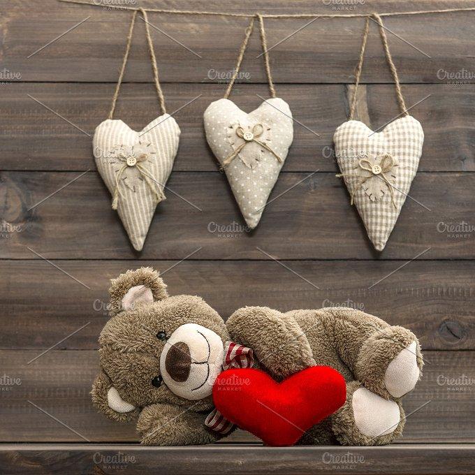 Teddy Bear. Valentines Day - Holidays