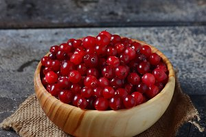 Fresh ripe cranberry