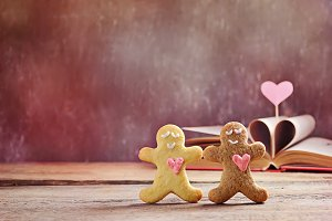 Valentine cookies  gingerbread man