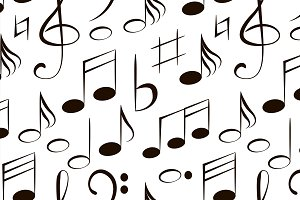 Vector musical notes pattern