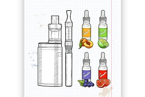 Vector set e-cigarette