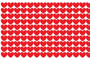 A white background with hearts