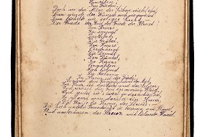 Easter poem handwritten text