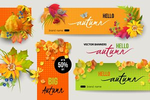 Autumn Banners Set 1