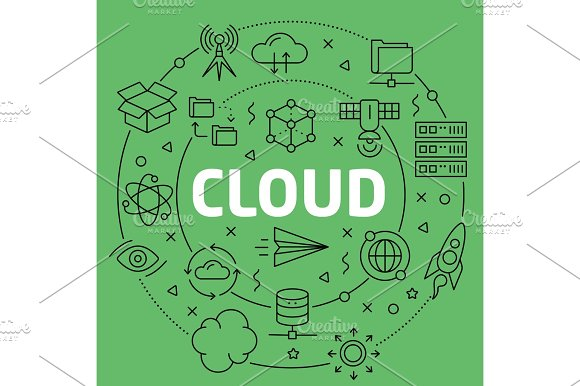 Linear Illustration Cloud