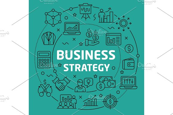 Linear Illustration Business Strategy