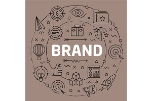 Linear illustration brand