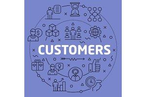 Linear illustration customers