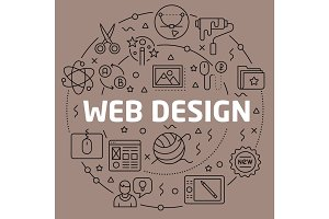 Linear illustration web design