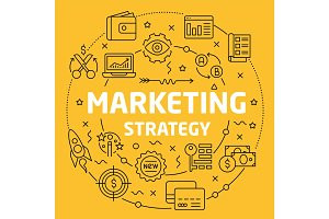 Linear illustration marketing strategy