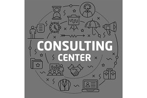 Linear illustration consulting center